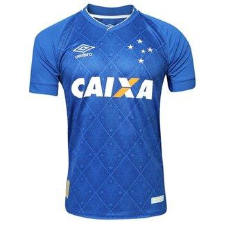 Camisa Cruzeiro Oficial 1 Umbro 17 18 3E160146 6fa20bf03b16e