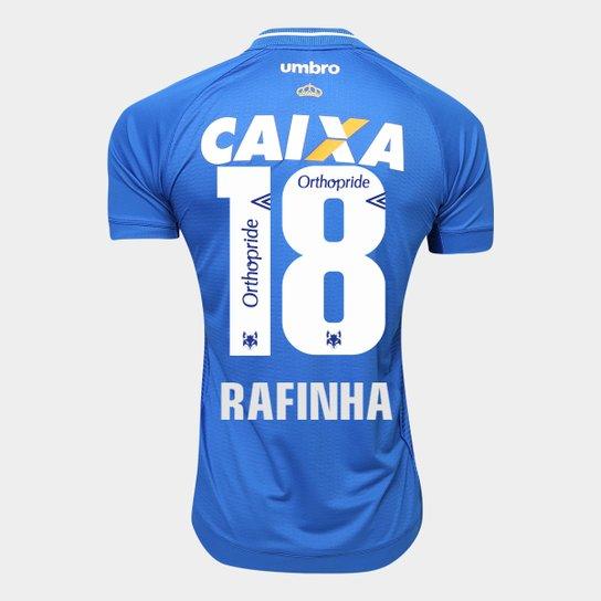 Camisa Cruzeiro I 17 18 N°18 Rafinha Torcedor Umbro Masculina - Azul+ 341acb9b7918e