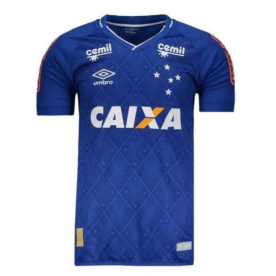 73fbcecf8114b Camisa Cruzeiro 1 jogador 17 18 Patrocínio Masculina - Compre Agora ...