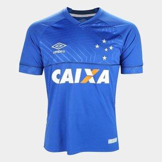 b5cbef4a0e4d7 Camisa Cruzeiro I 18 19 s n° C  Patrocínio - Torcedor Umbro