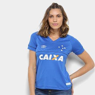 554a27019a Camisa Cruzeiro I 18 19 s n° C  Patrocínio - Torcedor Umbro