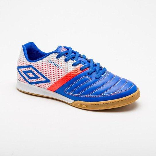 Tênis Futsal Umbro Spirity Adulto - Azul e Branco - Compre Agora ... 797e87a5c1340