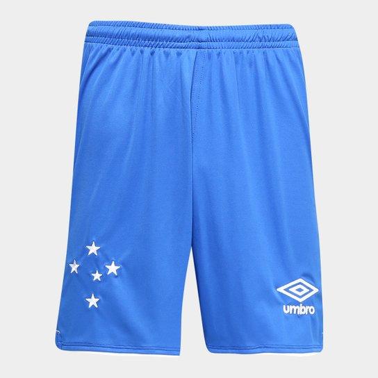 85bb198f02326 Calção Cruzeiro II 2019 Torcedor Umbro Masculino - Azul e Branco ...