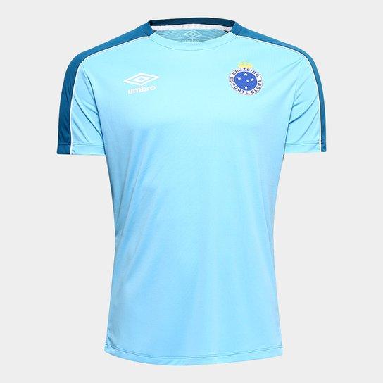 71071cbcce Camisa Cruzeiro 2019 Treino Umbro Masculina - Azul e Branco   Netshoes