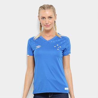 61de06633a3a3 Camisa do Cruzeiro I 19 20 s n° Torcedor Umbro Feminina