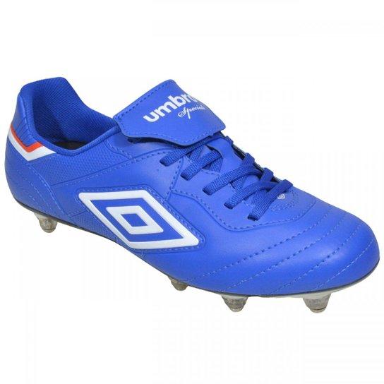 ac8277c0fe Chuteira Umbro Campo Speciali III Club 8R - Azul e Branco
