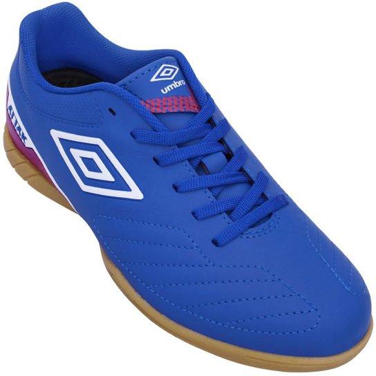 342a768e0e5 Tênis Umbro Futsal Attak II - Azul e Branco - Compre Agora