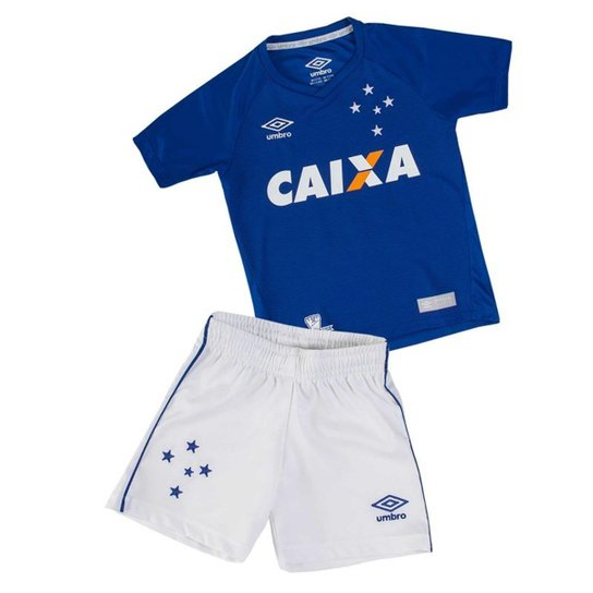 445e718a21 Kit Infantil Umbro Cruzeiro Oficial - Azul+Branco