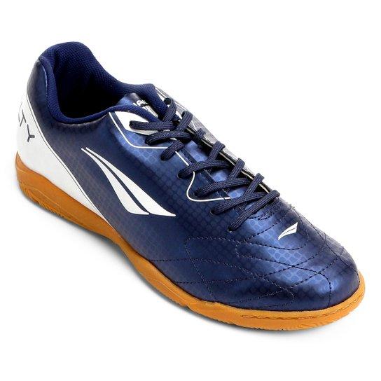 Chuteira Futsal Penalty Matis VIII Masculina - Azul e Branco ... 57f00ba47199f