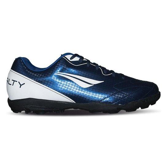 0f687e858d Chuteira Society Penalty Matis VIII - Azul e Branco - Compre Agora ...