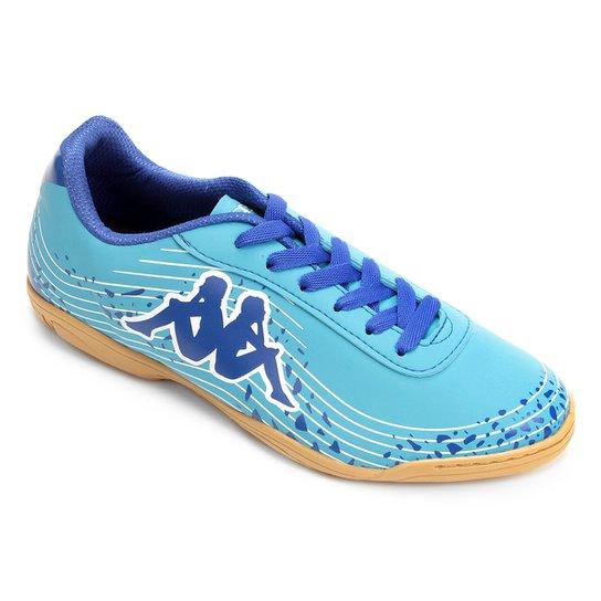 Chuteira Futsal Kappa Lightning - Azul e Branco - Compre Agora ... 35668a9aa8b77