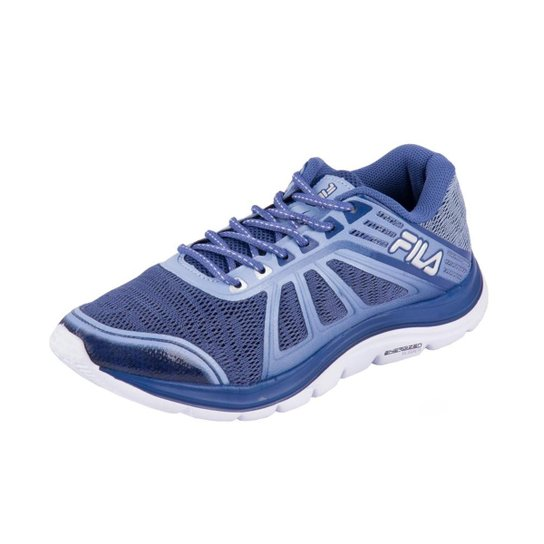 a039ec6a373 Tênis Fila Spirit 2.0 Feminino - Azul e Branco - Compre Agora