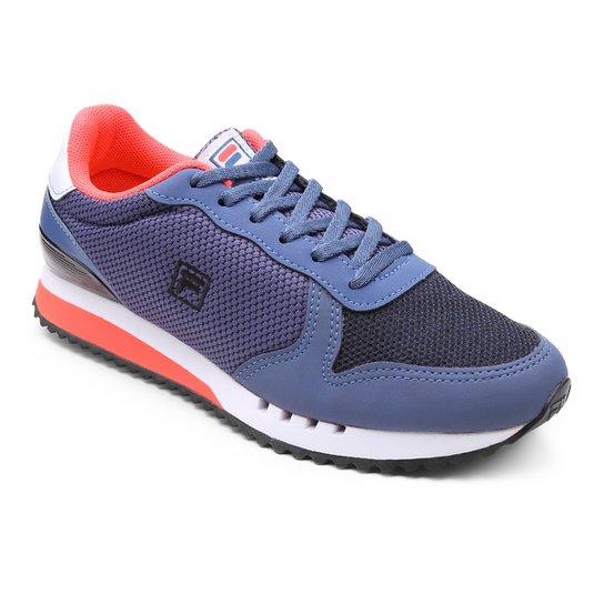 78cdc566ff6 Tênis Fila Retrô Runner Se Feminino - Azul e Branco - Compre Agora ...