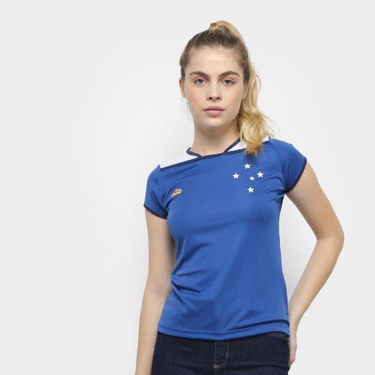 c295748e2c888 Camiseta Cruzeiro UP Feminina - Azul e Branco - Compre Agora