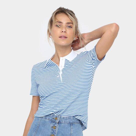 0913c9ad40879 Camisa Polo Lacoste Listrada Feminina - Compre Agora