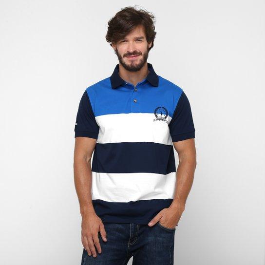 Camisa Polo Aleatory Fio Tinto Brasão - Compre Agora  f1ac0484075e7