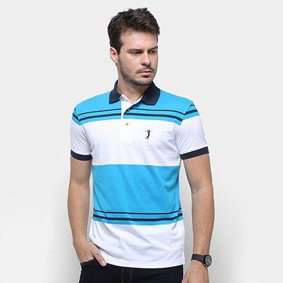 Camisa Polo Aleatory Malha Fio Tinto Masculina