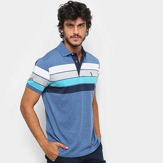 Camisa Polo Aleatory Fio Estampa Listrada Masculina 1628a992d8543