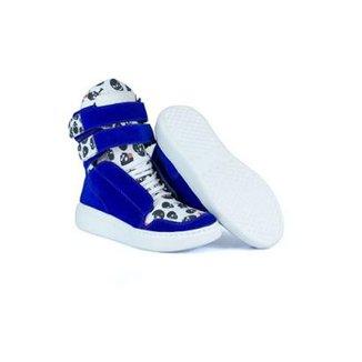 Tênis Sneaker Feminino Couro Bota de Treino Cheia de Marra 48751ec41fb97