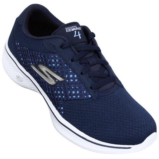 fa84416a3f4 Tênis Skechers Go Walk 4 - Azul e Branco - Compre Agora