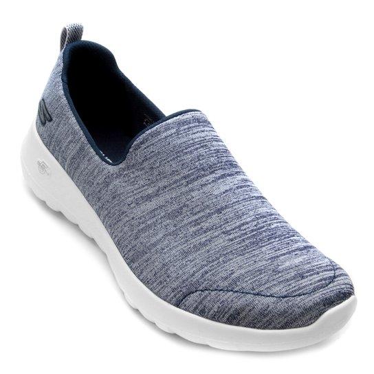 3ec21e4c2b3 Tênis Skechers Go Walk Joy Feminino - Azul e Branco - Compre Agora ...