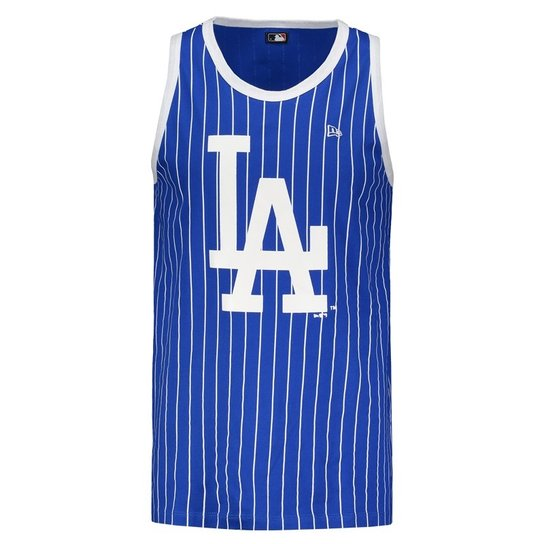 Camiseta Regata New Era MLB Los Angeles Dodgers Masculina - Azul+Branco c80bd466363