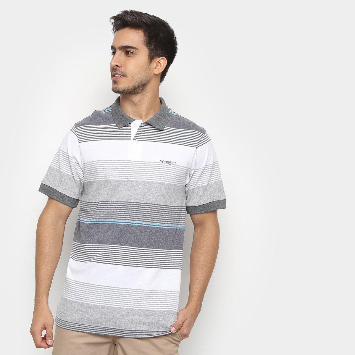 Camisas Polo Wrangler Estampa Listrada Masculina