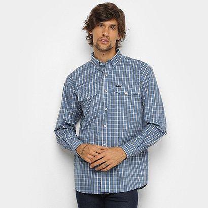 Camisa Xadrez Manga Longa Wrangler Bolsos Masculina