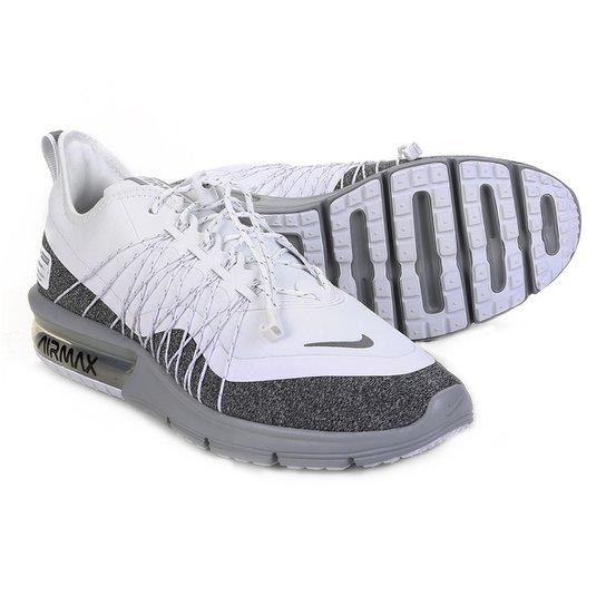 133faabf4c3 Tênis Nike Air Max Sequent 4 Utility Feminino - Branco e Cinza ...