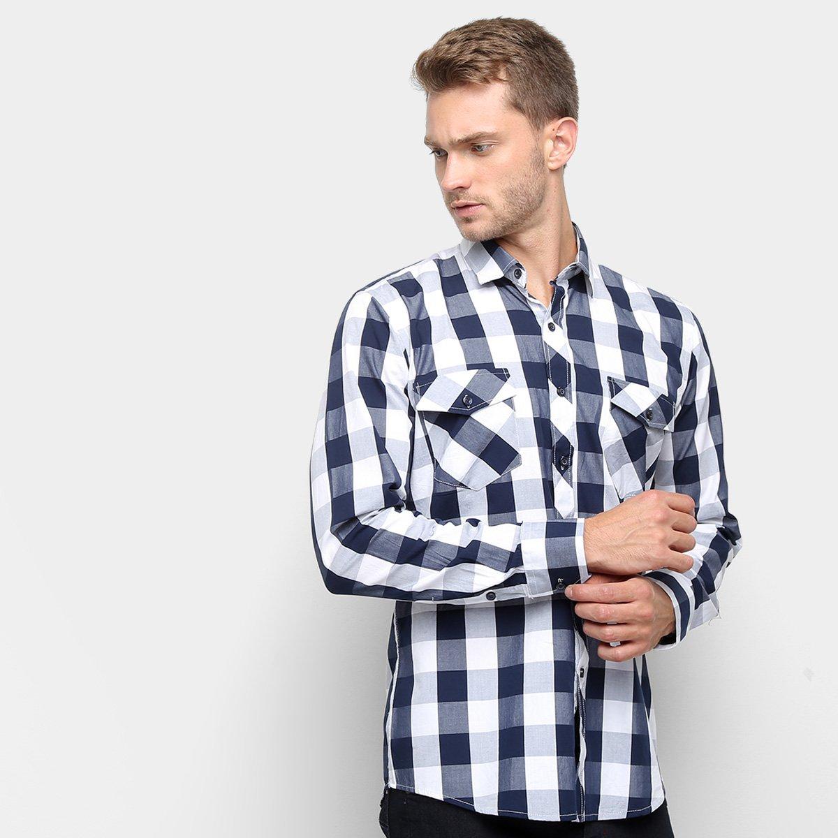 7489099c605d Camisa Xadrez Watkins & Krown Masculina - Tam: 6 - Shopping TudoAzul