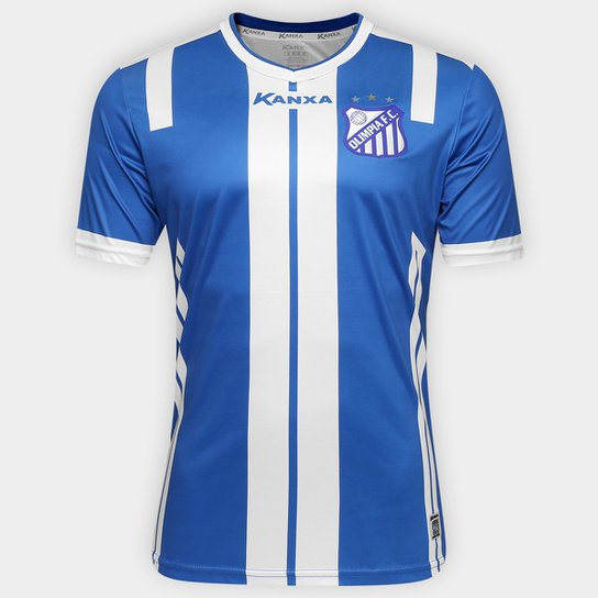 Camisa Olímpia I 2017 nº 10 - Torcedor Kanxa Masculina - Azul+Branco 762595460a3d7
