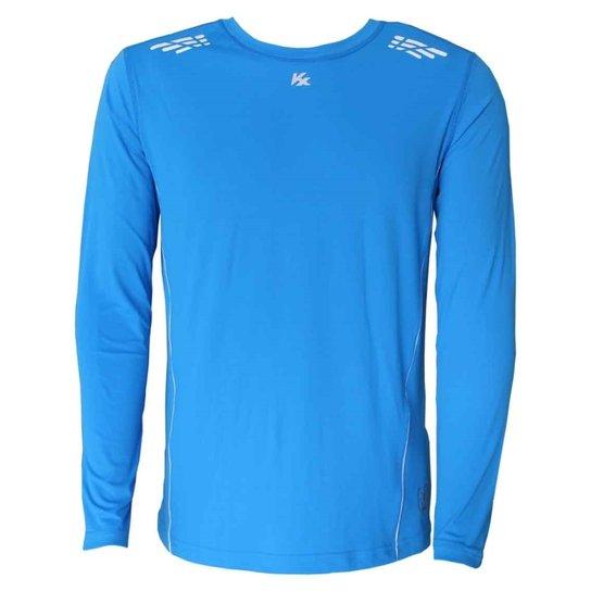 4e55597bd3 Camisa Kanxa Ml Cream Protection - Azul e Branco - Compre Agora ...