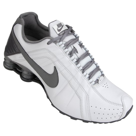 on sale 8abcb 54d42 Tênis Nike Shox Junior - Gelo+Cinza