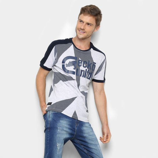 56a9d29defc Camiseta Ecko Iseta Especial Masculina - Gelo e Cinza - Compre Agora ...