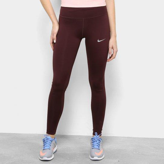Calça Legging Nike Dri-FIT Power Essential Feminina - Vermelho e ... b77a37cd61e