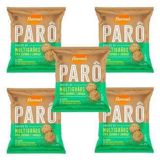 5x Biscoito Flormel ParO MultigrAos 40g