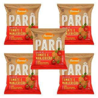5x Biscoito Flormel ParO Tomate E ManjericAo 40g