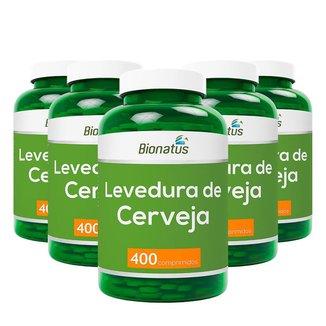 5X   Levedura de Cerveja   400 Comp   Bionatus   Linha Green