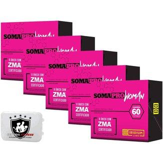 5x Soma Pro Woman Zma 60 Cápsulas - Iridium Labs + Porta Cápsulas