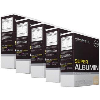 5x Super albumin com biotina - Baunilha - 500g - Probiótiica