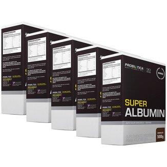 5x Super albumin com biotina - Chocolate - 500g - Probiótiica