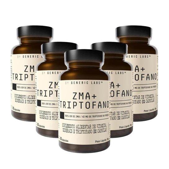 5X Zma + Triptofano (60 Cápsulas) - Generic Labs -