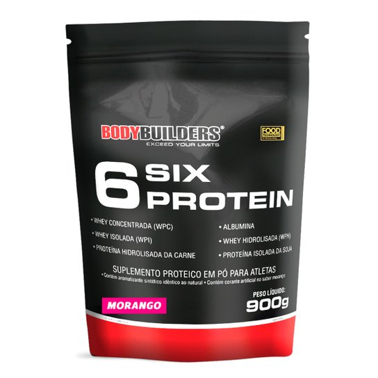 6 Six Protein Refil 900g Exclusivo - Bodybuilders -