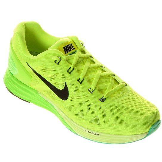 28a5fe205a1 Tênis Nike Lunarglide 6 - Verde Limão+Preto