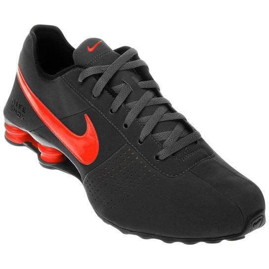 info for 751e7 70a3b Tênis Nike Shox Deliver - Chumbo+Laranja