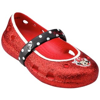 d1eb7e8b9837 Sapatilha Crocs Infantil Keeley Minnie Glitter Flat PS
