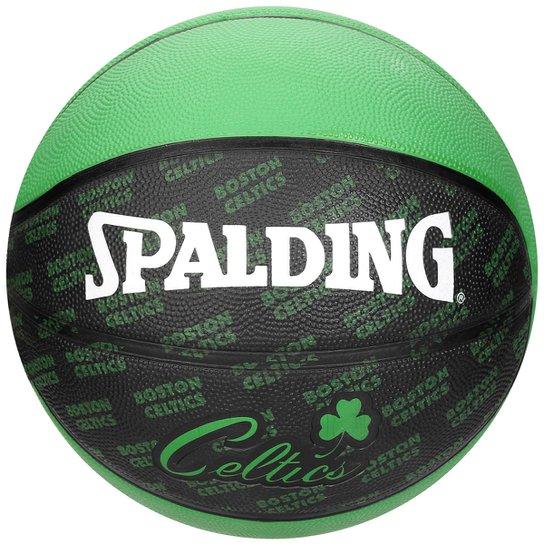 9586191fcc Bola Basquete Spalding Boston Celtics - Verde+Preto