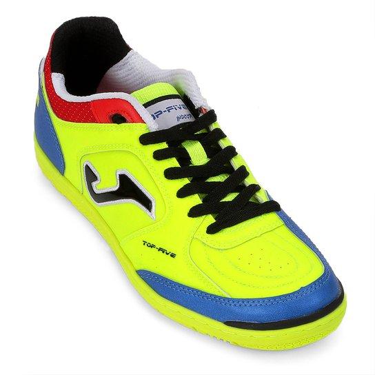 750e0e9522 Chuteira Futsal Joma Top Five IN - Verde - Compre Agora