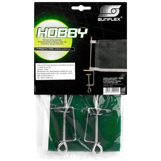 d6c8c5d3a Rede de Nylon Sunflex Hobby para Ping Pong com Suporte de Ferro - Verde