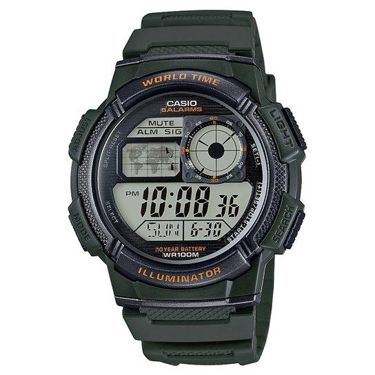 6f536a39a94 Relógio Casio Digital AE-1000W - Musgo - Compre Agora